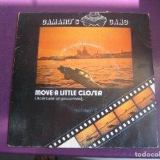 Discos de vinilo: CAMARO'S GANG SG VICTORIA 1984 - MOVE A LITTLE CLOSER +1 ITALODISCO 80'S - ELECTRONICA DISCO. Lote 168517788