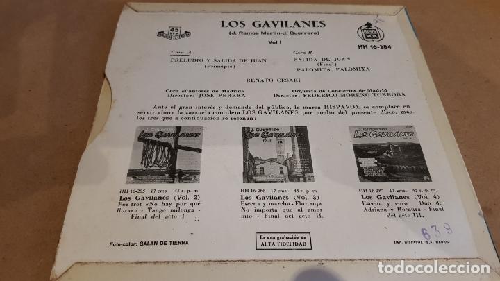Discos de vinilo: LOS GAVILANES. VOL. 1 / CORO CANTORES DE MADRID / EP - HISPAVOX-1961 / MBC. ***/*** - Foto 2 - 168537208