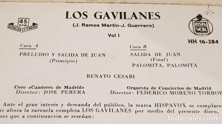 Discos de vinilo: LOS GAVILANES. VOL. 1 / CORO CANTORES DE MADRID / EP - HISPAVOX-1961 / MBC. ***/*** - Foto 3 - 168537208