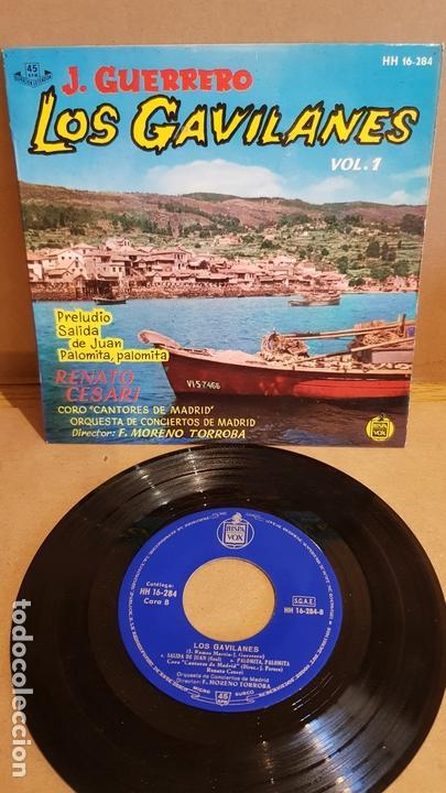 LOS GAVILANES. VOL. 1 / CORO CANTORES DE MADRID / EP - HISPAVOX-1961 / MBC. ***/*** (Música - Discos de Vinilo - EPs - Clásica, Ópera, Zarzuela y Marchas)