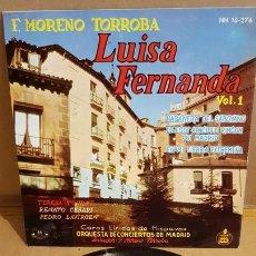 Discos de vinilo: LUISA FERNANDA. VOL. 1 / COROS LÍRICOS DE HISPAVOX / EP - HISPAVOX-1961 / MBC. ***/***. Lote 168537496