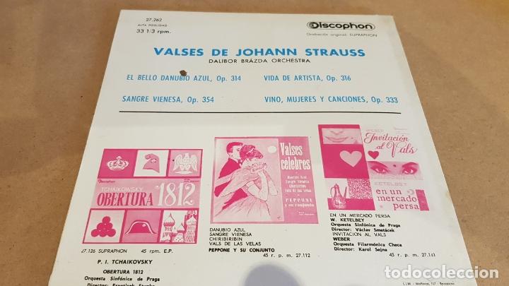Discos de vinilo: DALIBOR BRÁZDA ORCHESTRA / VALSES DE JOHANN STRAUSS / EP-33RPM - DISCOPHON-1963 / MBC. ***/*** - Foto 2 - 168538032