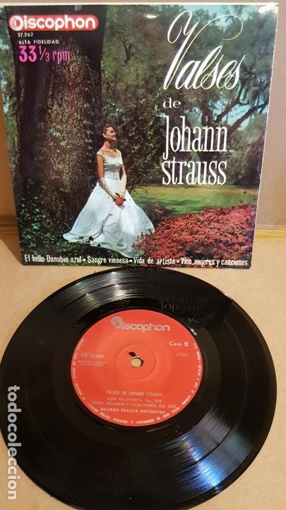 DALIBOR BRÁZDA ORCHESTRA / VALSES DE JOHANN STRAUSS / EP-33RPM - DISCOPHON-1963 / MBC. ***/*** (Música - Discos de Vinilo - EPs - Clásica, Ópera, Zarzuela y Marchas)