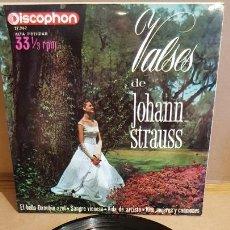 Discos de vinilo: DALIBOR BRÁZDA ORCHESTRA / VALSES DE JOHANN STRAUSS / EP-33RPM - DISCOPHON-1963 / MBC. ***/***. Lote 168538032