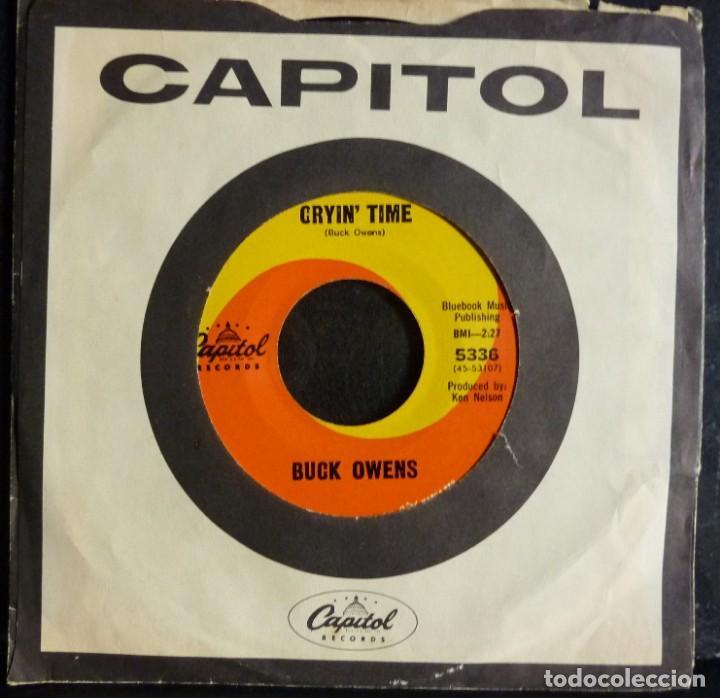 BUCK OWENS // CRYIN TIME+1//CAPITOL// MADE IN USA// (VG VG).SINGLE (Música - Discos - Singles Vinilo - Country y Folk)