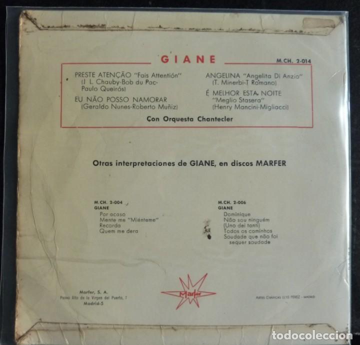 Discos de vinilo: GIANE // PRESTE ATENCAO+3//1965 // (VG+ VG+) EP - Foto 2 - 168551248