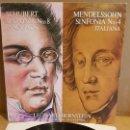 Discos de vinilo: SCHUBERT-MENDELSSOHN / LEONARD BERNSTEIN / LP - CBS-1981 / MBC. ***/***. Lote 168558828