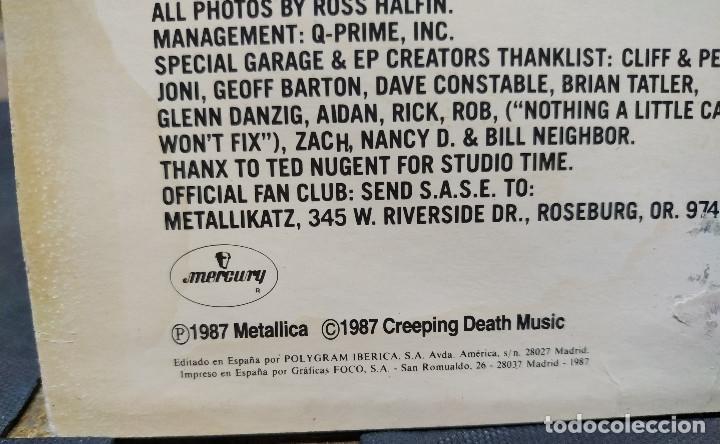 Discos de vinilo: METALLICA THE $ 5.98 E.P. GARAGE DAYS REVISITED - Foto 3 - 168560496