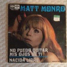 Discos de vinilo: SINGLE MATT MONRO. Lote 168565580