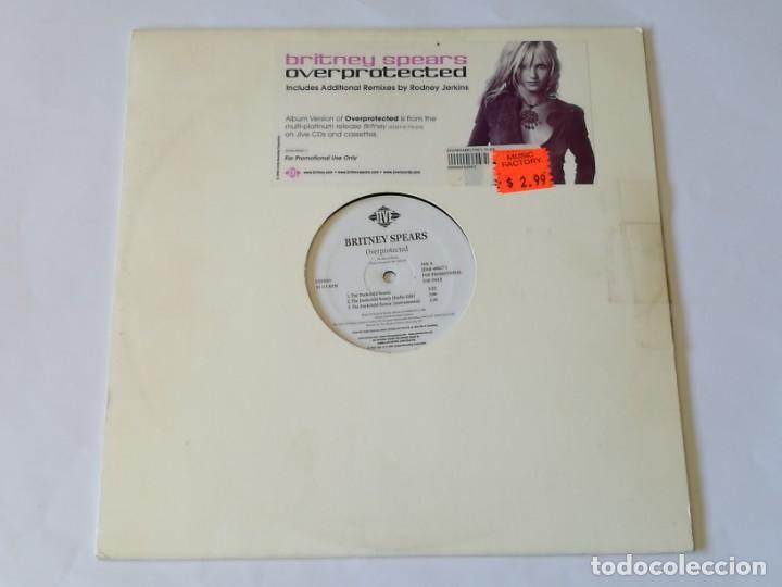 BRITNEY SPEARS - OVERPROTECTED - 2002 (Música - Discos de Vinilo - Maxi Singles - Techno, Trance y House)