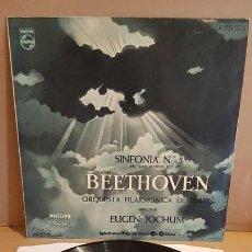 Discos de vinilo: BEETHOVEN / FILARMONICA DE BERLIN / SINFONIA Nº 5 / EUGEN JOCHUM LP - PHILIPS / MBC. ***/***DIFÍCIL.. Lote 168575484