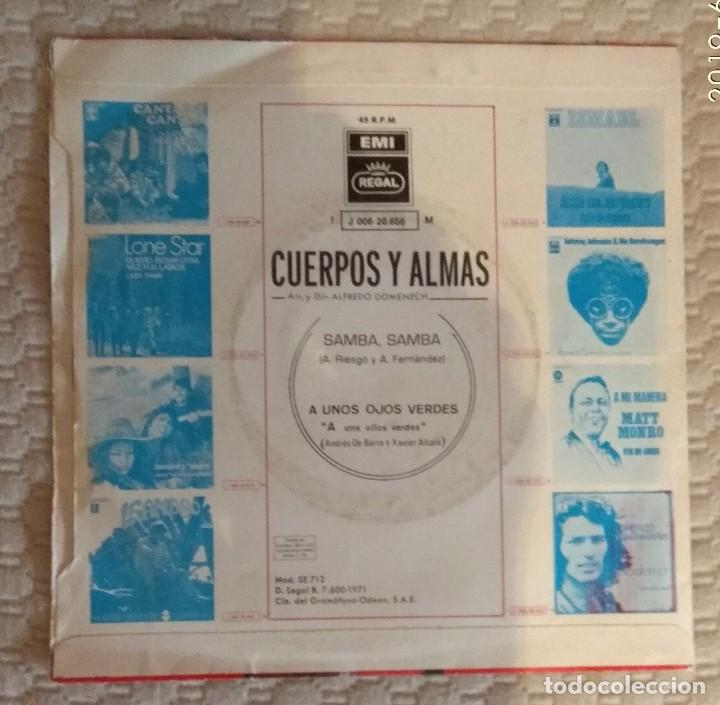 Discos de vinilo: SINGLE CUERPOS Y ALMAS - Foto 2 - 168581476