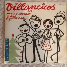 Discos de vinilo: SINGLE VILLANCICOS POR MANOLO ESCOBAR Y SUS GUITARRAS. Lote 168581632