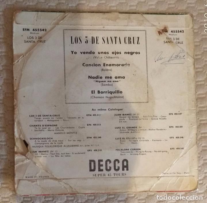 Discos de vinilo: SINGLE LOS 3 DE SANTA CRUZ - Foto 2 - 168581996