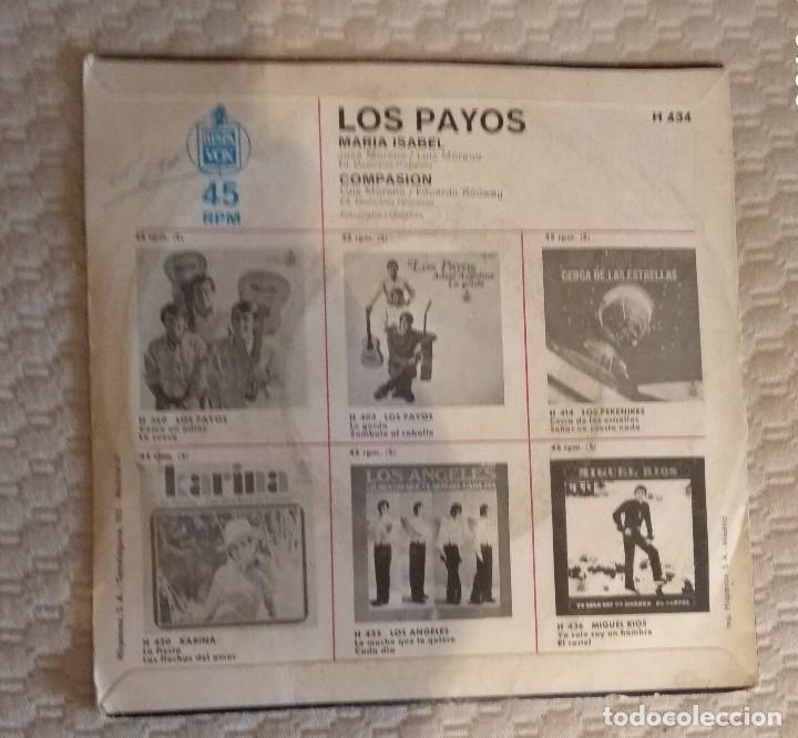 Discos de vinilo: SINGLE LOS PAYOS - Foto 2 - 168582164