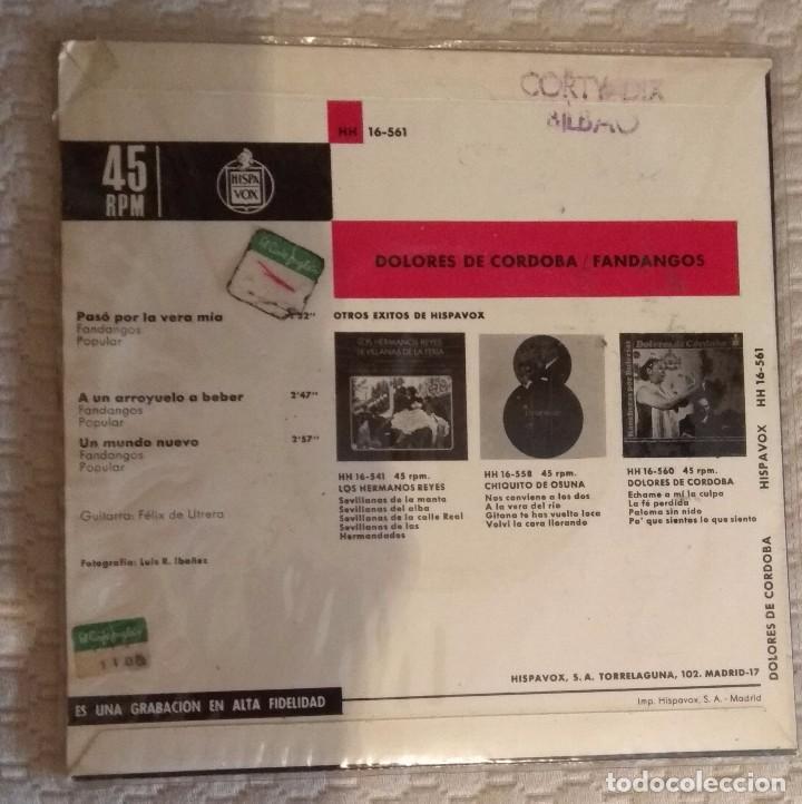 Discos de vinilo: SINGLE DOLORES DE CÓRDOBA - Foto 2 - 168582388