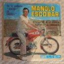 Discos de vinilo: SINGLE MANOLO ESCOBAR. Lote 168583448