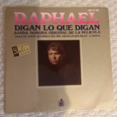 Discos de vinilo: SINGLE RAPHAEL. Lote 168583540