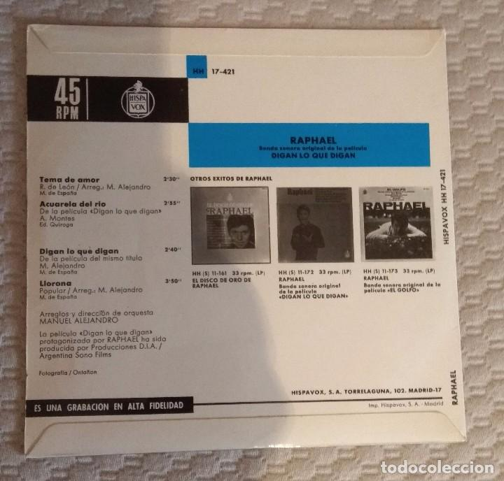 Discos de vinilo: SINGLE RAPHAEL - Foto 2 - 168583540