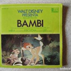 Discos de vinilo: WALT DISNEY.BAMBI...CUENTO DISCO. Lote 168584908