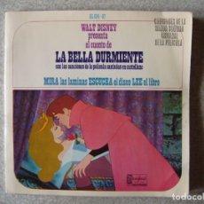 Discos de vinilo: WALT DISNEY.LA BELLA DURMIENTE...CUENTO DISCO. Lote 168584996
