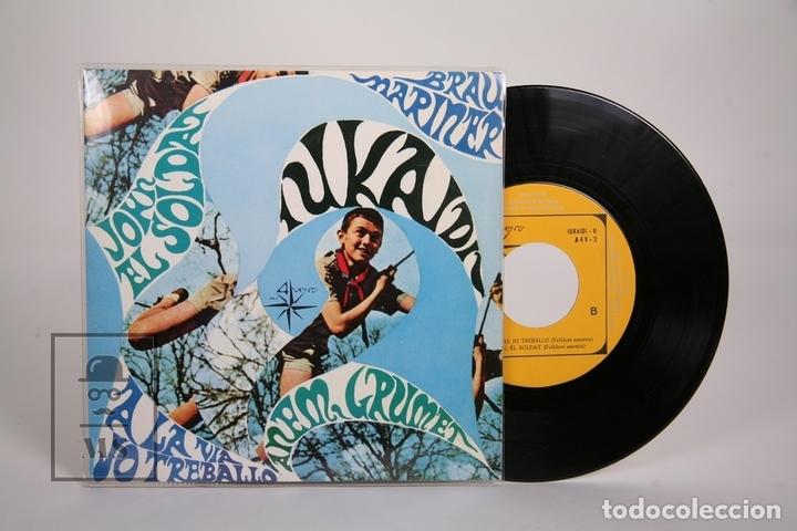 DISCO EP DE VINILO - IUKAIDÍ II / JOHN EL SOLDAT, ANEM GRUMET.. - ALS 4 VENTS - 1967 - CON LETRAS (Música - Discos de Vinilo - EPs - Grupos Españoles 50 y 60)
