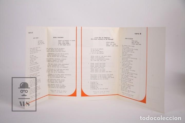 Discos de vinilo: Disco EP De Vinilo - Iukaidí II / John el Soldat, Anem Grumet.. - Als 4 Vents - 1967 - Con Letras - Foto 3 - 168595813