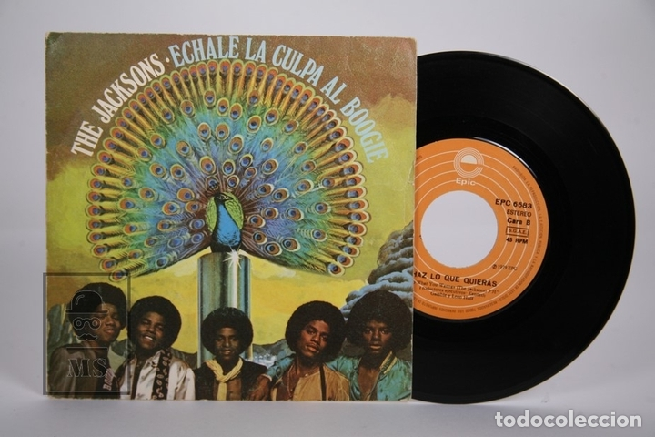 DISCO SINGLE DE VINILO - THE JACKSONS / ECHALE LA CULPA AL BOOGIE - EPIC - AÑO 1979 (Música - Discos - Singles Vinilo - Pop - Rock - Extranjero de los 70)