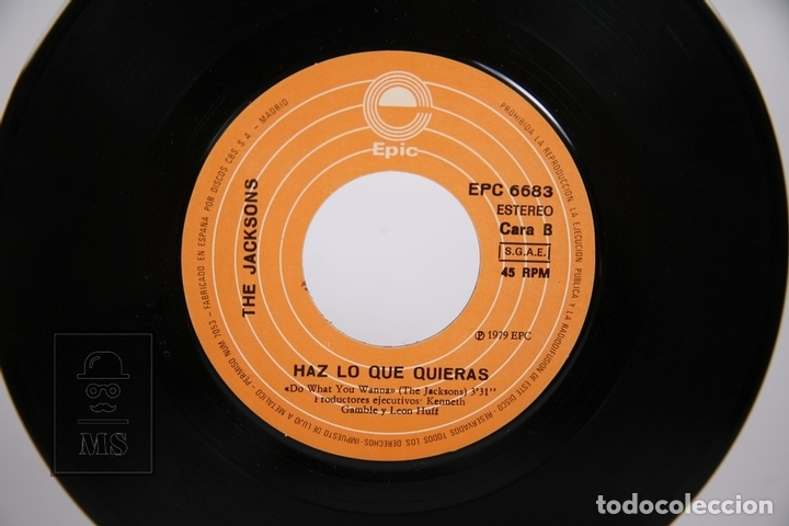 Discos de vinilo: Disco Single De Vinilo - The Jacksons / Echale la Culpa al Boogie - Epic - Año 1979 - Foto 2 - 168596378