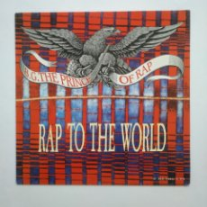 Discos de vinilo: B.G. THE PRINCE OF RAP. - RAP TO THE WORLD - MAXI-SINGLE. TDKDA56. Lote 168609548