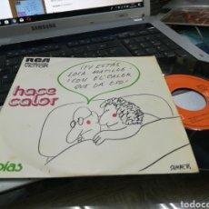 Discos de vinilo: TOBIAS SINGLE HACE CALOR 1974. Lote 168613508