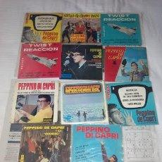 Discos de vinilo: PEPPINO DI CAPRI / LOTE 13 EP 45 RPM // EDITADOS ESPAÑA SPAIN SPANISH. Lote 168616596
