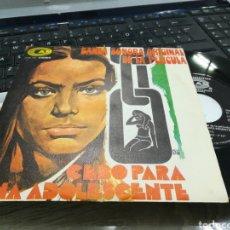 Discos de vinilo: ALFONSO SANTISTEBAN SINGLE BSO CEBO PARA UNA ADOLESCENTE ESPAÑA 1973. Lote 36851180