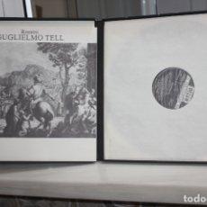 Discos de vinilo: ROSSINI-GUGLIELMO TELL.MILNES-PAVAROTI-FRENI-CHAILLY. 4 LPS + LIBRETO EN SU ESTUCHE. DECCA 1980. Lote 168631700