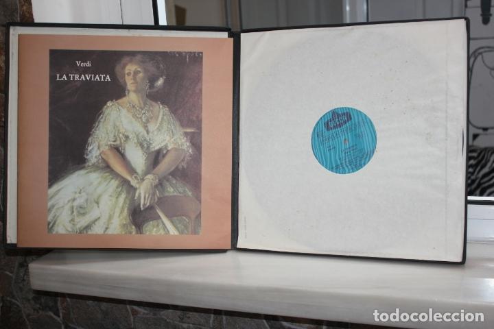 VERDI, LA TRAVIATA.SUTHERLAND-PAVAROTTI-MANUGUERRA. 3 LPS + LIBRETO EN SU ESTUCHE. DECCA 1981 (Música - Discos - LP Vinilo - Clásica, Ópera, Zarzuela y Marchas)