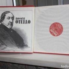 Discos de vinilo: ROSSINI, OTELLO. JOSE CARRERAS-FREDERICA VON STADE. 3 LPS + LIBRETO EN SU ESTUCHE.6769 023. Lote 168633768