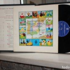 Discos de vinilo: ANTOLOGIA DEL FOLKLORE MUSICAL DE ESPAÑA. 4 LPS + LIBRETO EN SU ESTUCHE. HH 10107/8/9/10. Lote 168634108