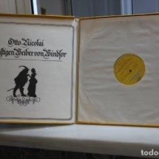 Discos de vinilo: OTTO NICOLAI, LAS ALEGRES COMADRES DE WINDSOR. 3 LPS + LIBRETO EN SU ESTUCHE.POLYDOR 1978. Lote 168634456