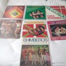 Discos de vinilo: LOS CHIMBEROS / LOTE 7 LP 33 RPM. Lote 168636208