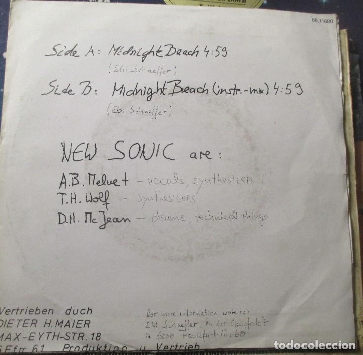 Discos de vinilo: NEW SONIC - MIDNIGHT BEACH - RARO SINGLE SYNTH POP AUTOEDITADO - SIN LABEL - - Foto 2 - 168641397
