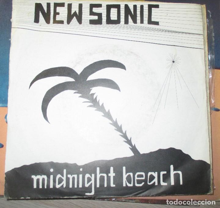 NEW SONIC - MIDNIGHT BEACH - RARO SINGLE SYNTH POP AUTOEDITADO - SIN LABEL - (Música - Discos - Singles Vinilo - Electrónica, Avantgarde y Experimental)