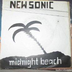 Discos de vinilo: NEW SONIC - MIDNIGHT BEACH - RARO SINGLE SYNTH POP AUTOEDITADO - SIN LABEL -. Lote 168641397