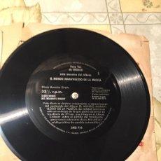 Discos de vinilo: ANTIGUO DISCO MUESTRA DEL ALBUM EL MUNDO MARAVILLOSO DE LA MUSICA AÑOS 60-70. Lote 168646508