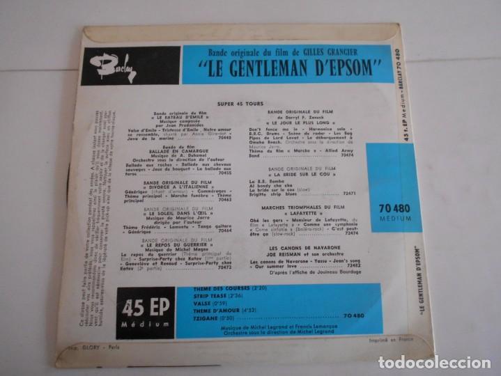 Discos de vinilo: MICHEL LEGRAND-EP BSO DEL FILM LE GENTLEMAN D'EPSOM - Foto 2 - 168670652