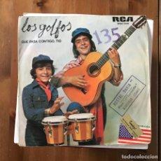 Discos de vinilo: GOLFOS - ¿QUÉ PASA CONTIGO, TÍO? - SINGLE RCA 1976. Lote 168670672