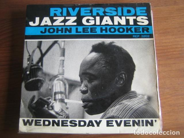 JOHN LEE HOOKER - WEDNESDAY EVENIN EP ***** RARO EP FRANCÉS RIVERSIDE (Música - Discos de Vinilo - EPs - Jazz, Jazz-Rock, Blues y R&B)