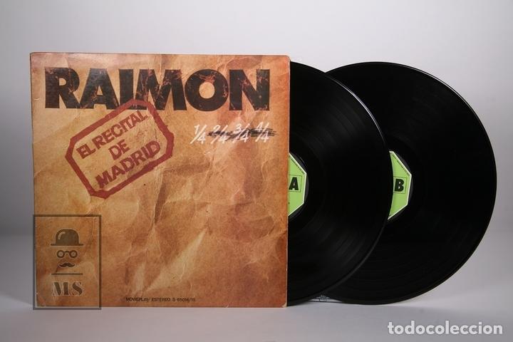 DOBLE DISCO LP DE VINILO- RAIMON / EL RECITAL DE MADRID - MOVIEPLAY 1976 - PORTADA ABIERTA + LIBRETO (Música - Discos - LP Vinilo - Cantautores Españoles)