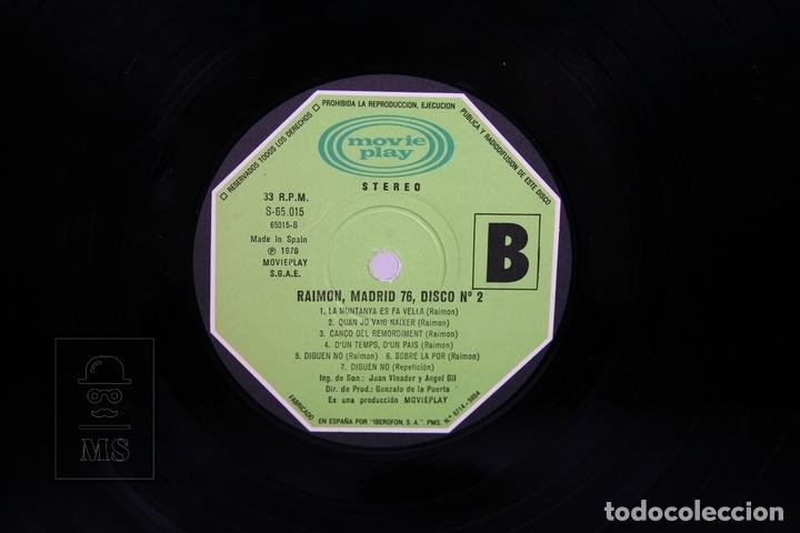 Discos de vinilo: Doble Disco LP De Vinilo- Raimon / El Recital de Madrid - Movieplay 1976 - Portada Abierta + Libreto - Foto 3 - 168705486