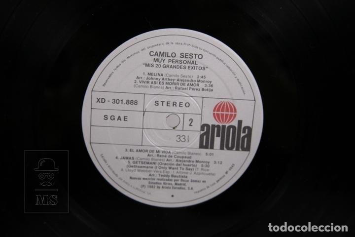 Discos de vinilo: Doble Disco LP De Vinilo - Camilo Sesto / Muy Personal - Ariola - Año 1982 - Portada Abierta - Foto 3 - 168705968