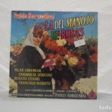 Discos de vinilo: VINILO LP - PABLO SOROZABAL LA DEL MANOJO DE ROSAS / HISPAVOX. Lote 168753676
